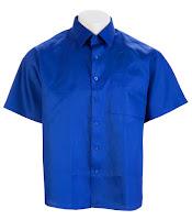 Ampliar imagen : Camisa Azul Uniforme básico Manga corta de caballero
