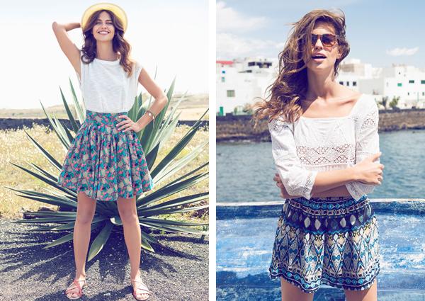 Suiteblanco falda corta verano