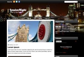 London Night Blogger Template