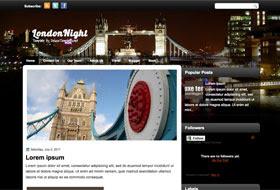 London Night Blogger Template