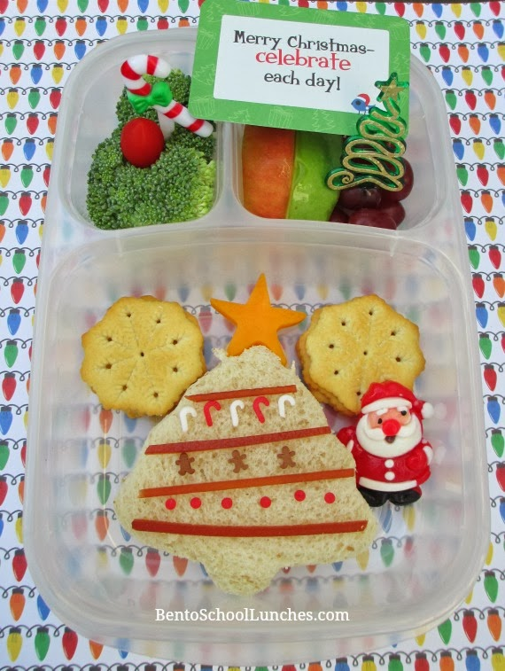 Christmas tree, bento school lunches