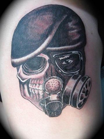 Stencils Of Gas Mask And Skulls | Graffiti Graffiti