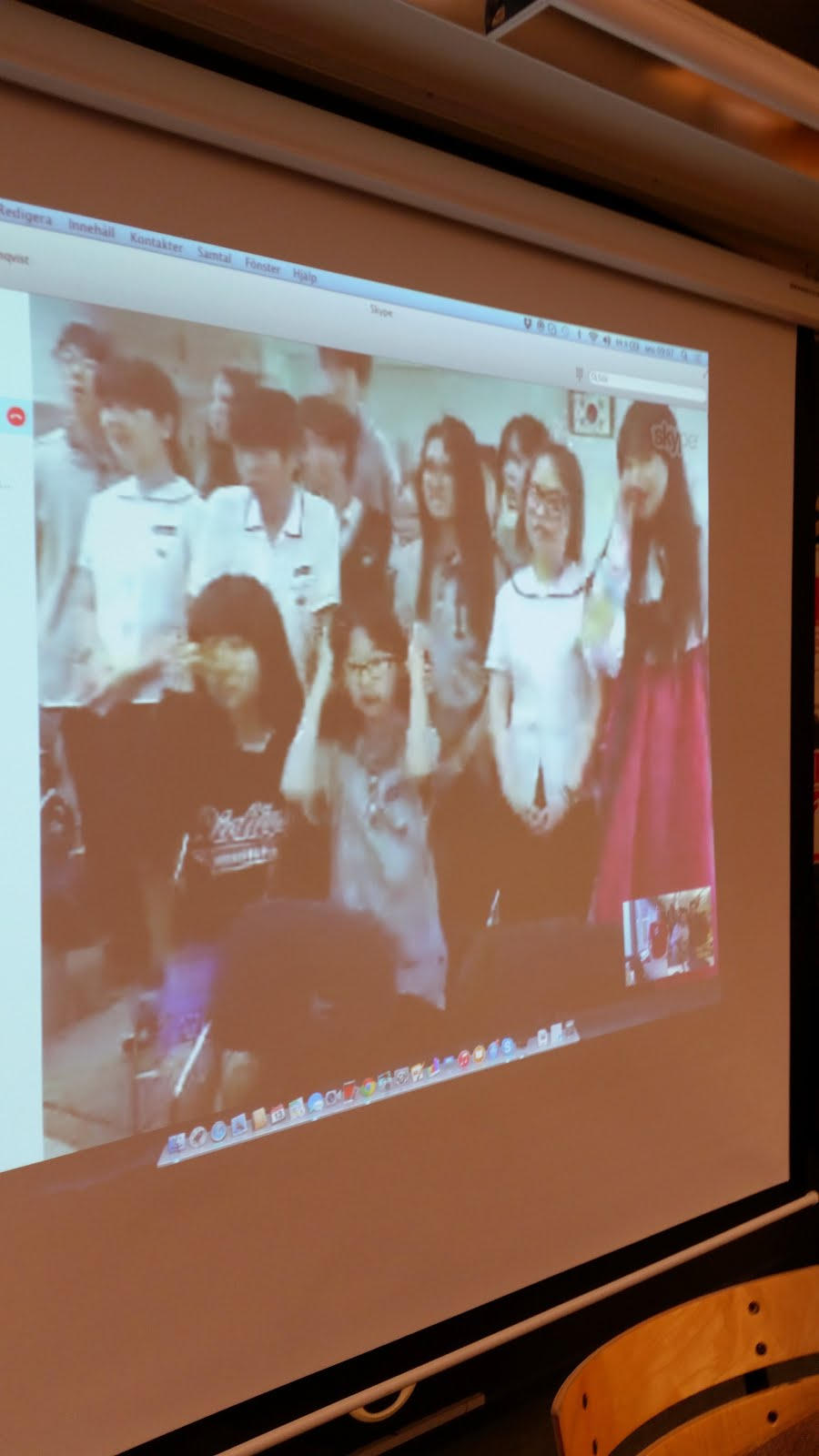 Skyping with South Korea