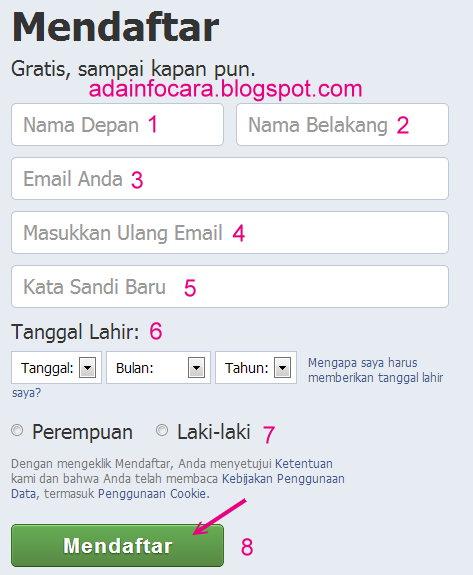 Cara buat facebook | daftar facebook (fb) baru dengan yahoo