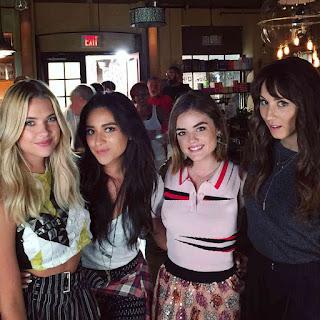 Ashley Benson, Shay Mitchell, Lucy Hale and Troian Bellisario wrap season 6 of PLL BTS 6x19