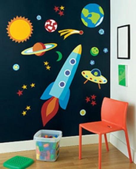 Dormitorios para ni os tema universo dormitorios con estilo for Decoracion el universo del hogar