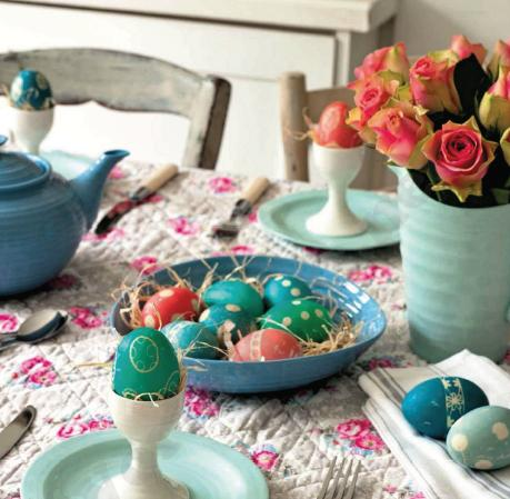 Easter egg decorating, Easter decor