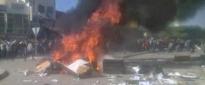Le local d'Ennahdha incendié à Gafsa