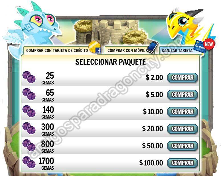 Existen muchas formas y opciones para comprar gemas en Dragon City, lo