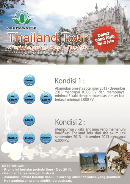 Green world Indonesia promo thailand