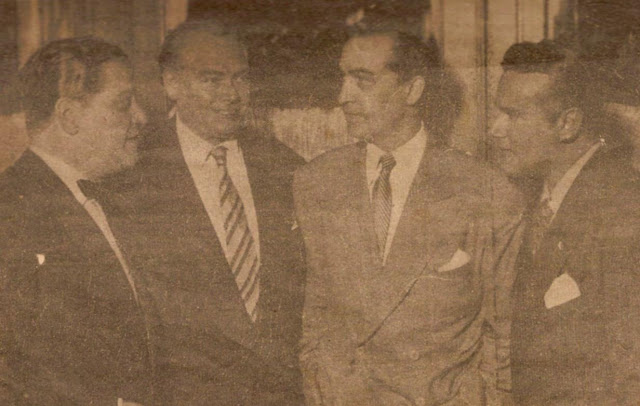 Hugo del Carril con Fiorentino, Francisco Amor, y Amadeo Mandarino