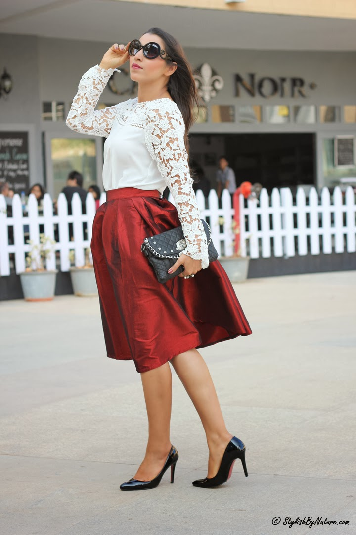 Fall trend Ladylike Full Skirt