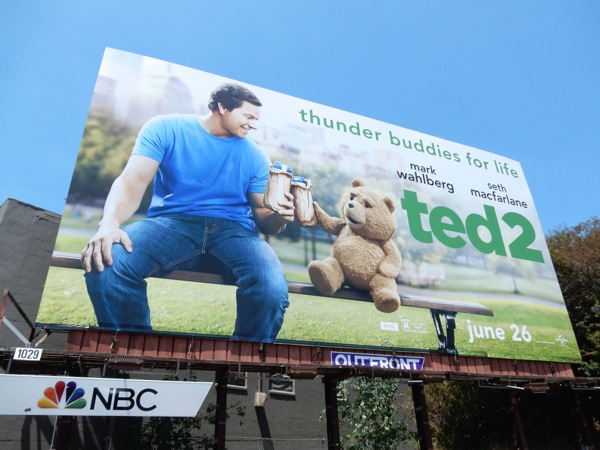 Ted 2 Thunder buddies for life billboard