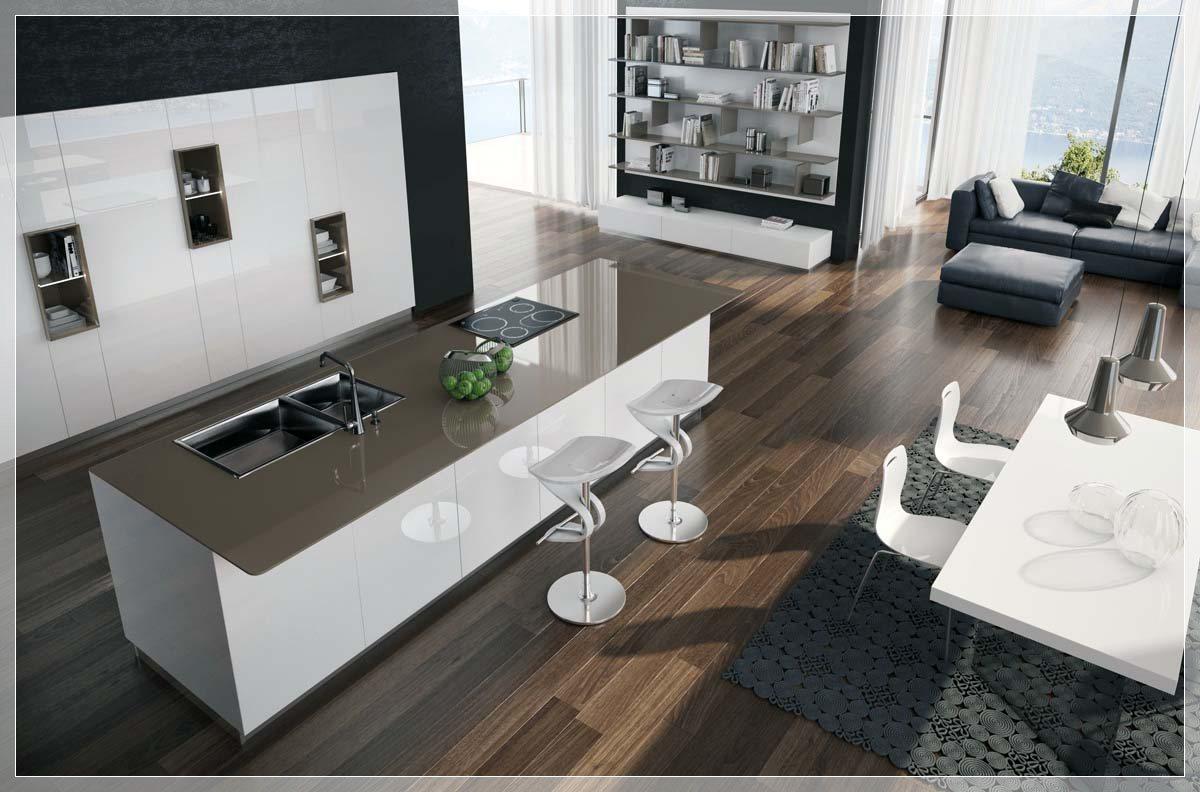 Nydelig minimal kjøkken med perfekt organisasjon   interiør ...