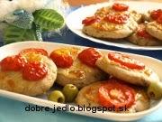 Olivové kolieska s paradajkou - recept