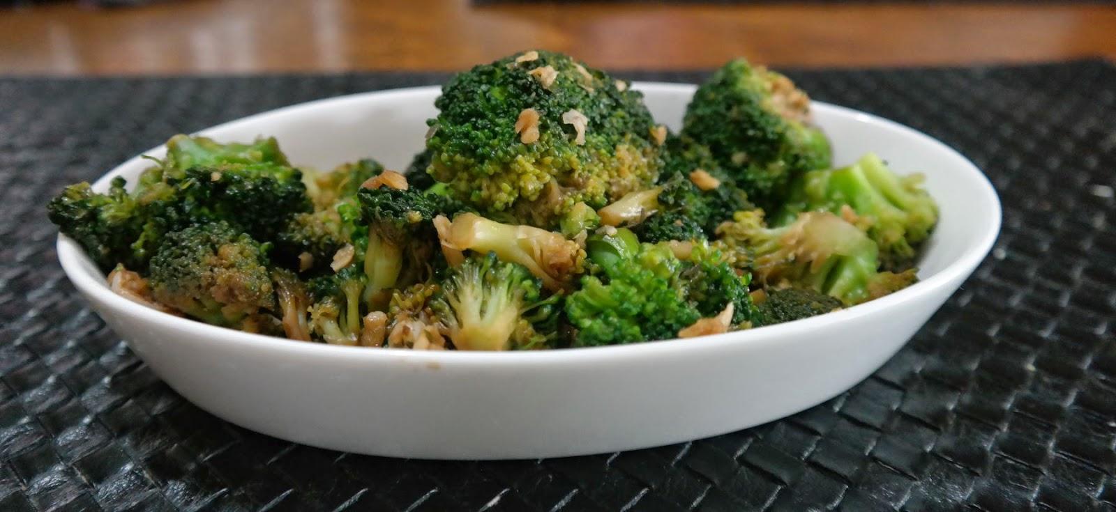 brócolis no alho e shoyo