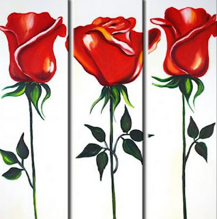 Rosas Modernas Pintura