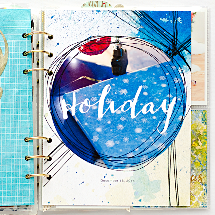 December Daily® hybrid mini album using the Mixed Media Monthly digital kit and add-ons from the Lilypad | Day 16