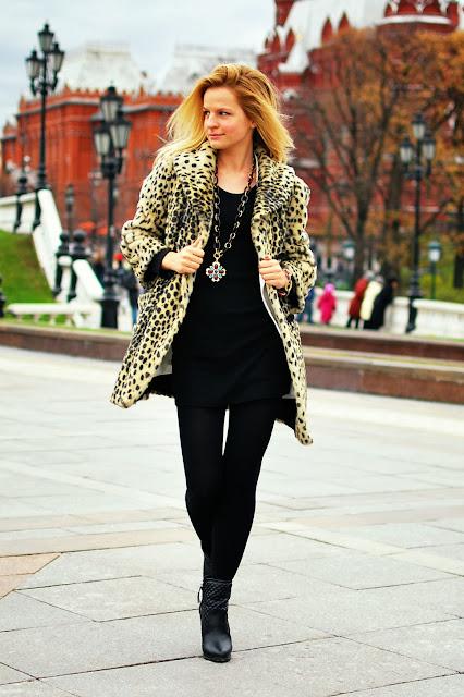 блоггер Ирина Павлова леопардовый лук