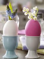 Пролетни цветя в черупки от яйца