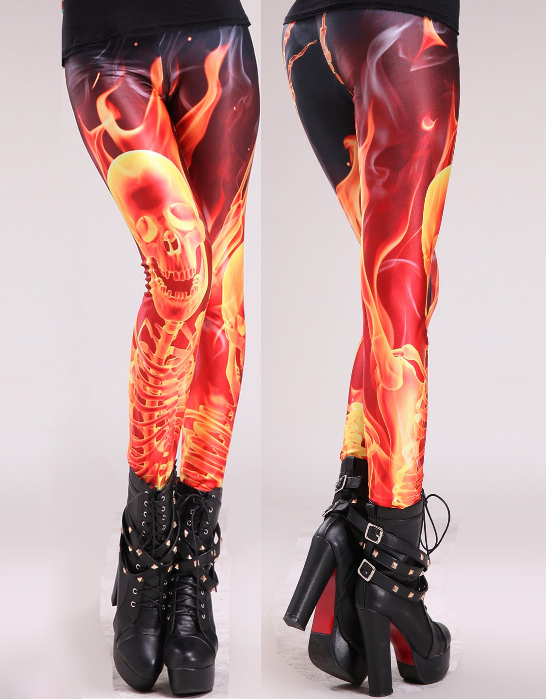 Red Flashing Lightning Leggings is US$ 8.25.