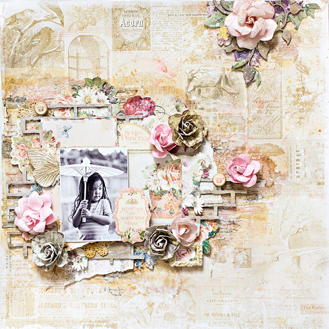 Scraps of Darkness scrapbook kits: Princess mixed media layout video tutorial