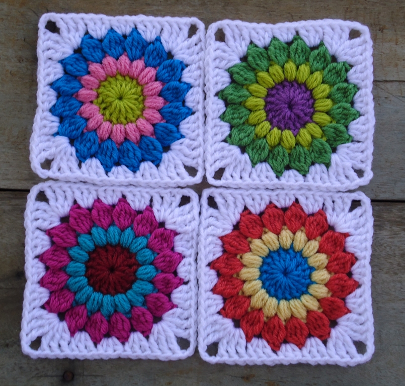 Crochet Granny Square Pattern : Stitch of Love: ~ Sunburst Granny Square