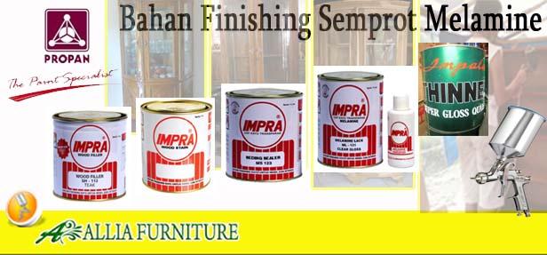 Bahan Proses Finishing Semprot Melamine