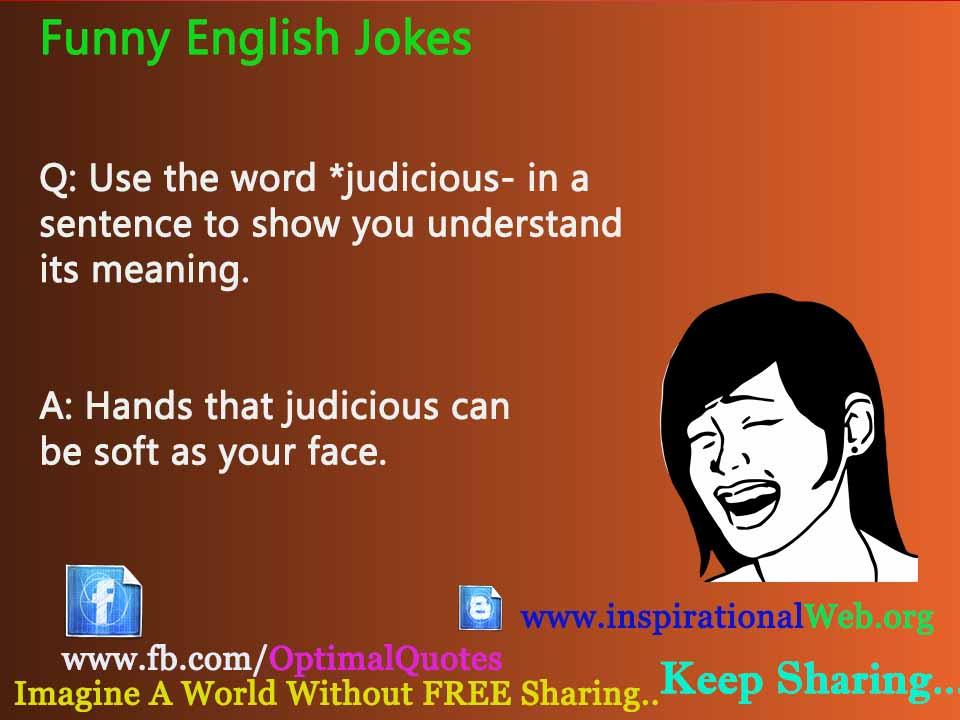 use in a sentence jokes english
