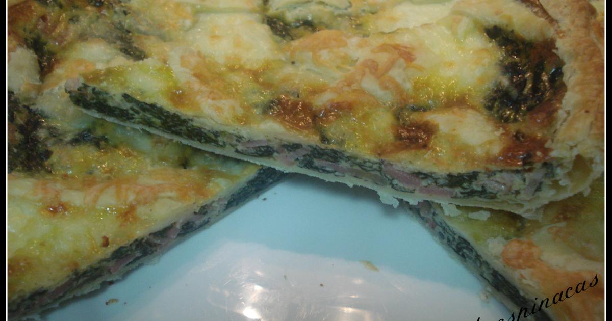 La cocina de calandrita hojaldre de espinacas bacon y queso for Maneras de cocinar espinacas