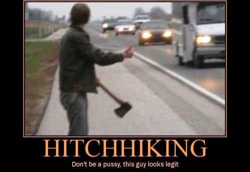 Hitchhiking - This Guy Looks Legit