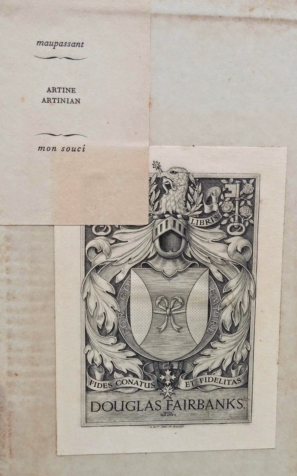 Three Signed Eisenhower Books And My Favorite Bookplate Ever From The  Estate Of Both Artine Artinian & Douglas Fairbanks