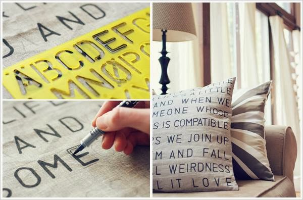 Make Your  Own Stencil Pillow...