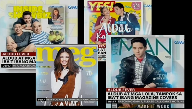 Kalye Serye cast covers of various magazines
