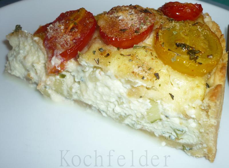 Kochfelder torta salata con ricotta e pomodorini for Boden mit schrift