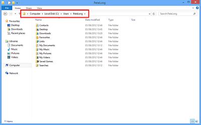 Thay đổi vị trí của My Documents - Windows 8