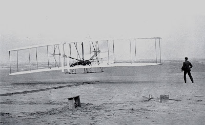 Dia 17 de desembre del 1903. Primer vol dels Germans Wright, Orville & Wilbur