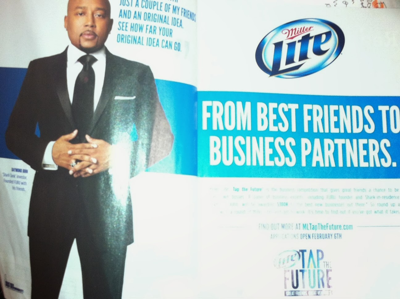 Miller Lite Tap the Future business plan contest