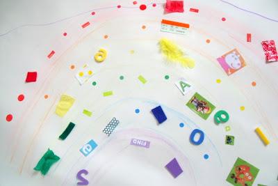 Rainbow Collage for Preschoolers