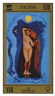 Arcano 17, La Estrella. Tarot de Dalí