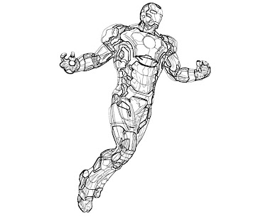 #10 Iron Man Coloring Page