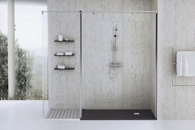 Душевой поддон Fiora Silex Framed в ванной комнате