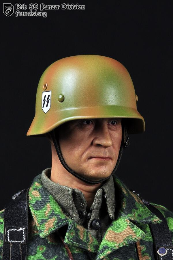 "1:6th CalTek Head Sculpt German 10th Panzer Division For 12/"" Male Action Figure"
