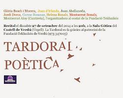 Tardoral poètica a Verdú