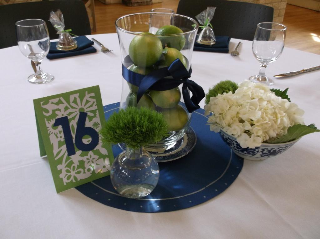 Navy blue and green wedding centerpieces pixshark