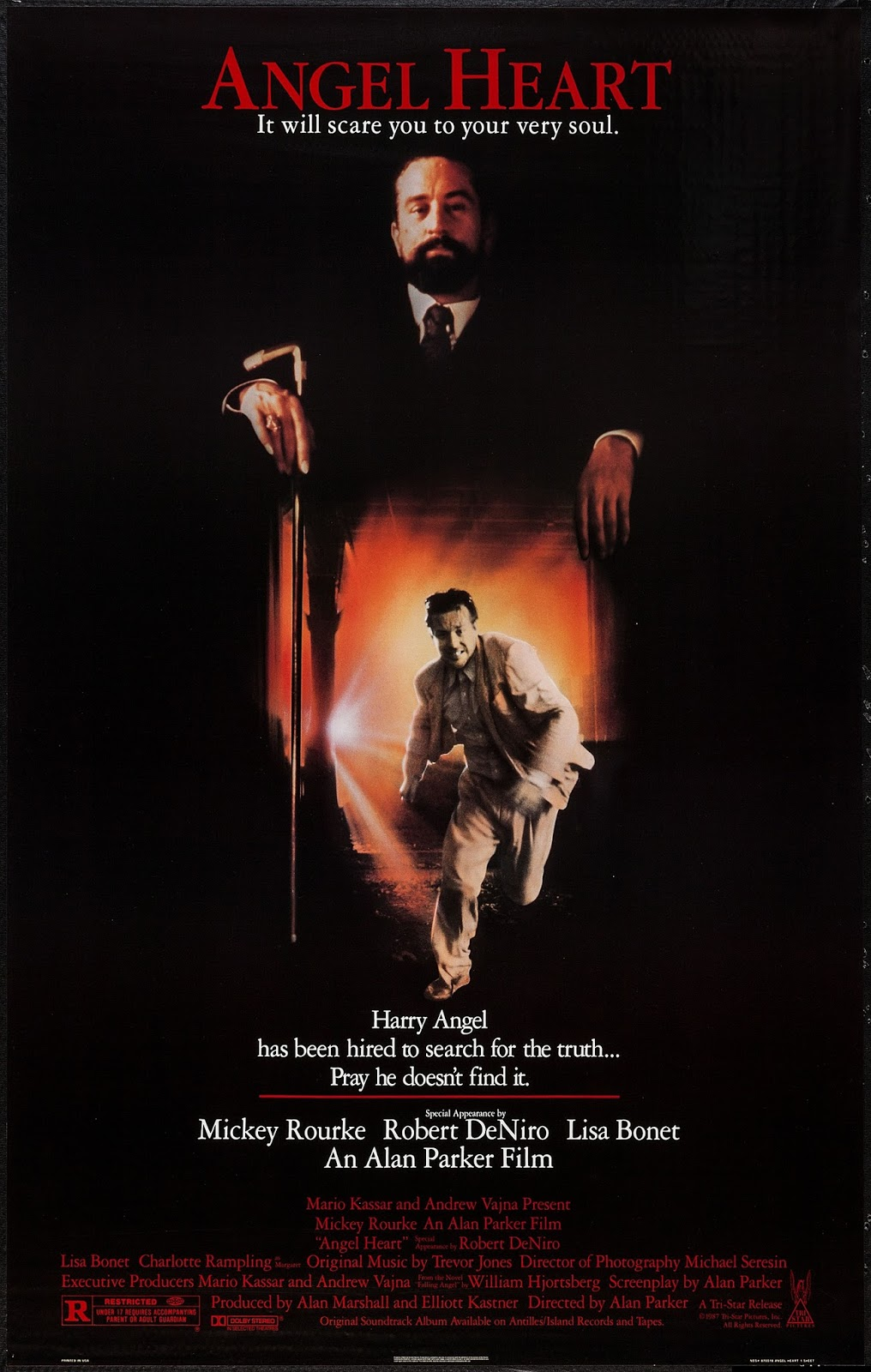 angel heart 1987 film noir of the week and throughout the sequence a cacophony of sound contributes to a dante esque illusion of damned souls in hell from the essay the devil you know