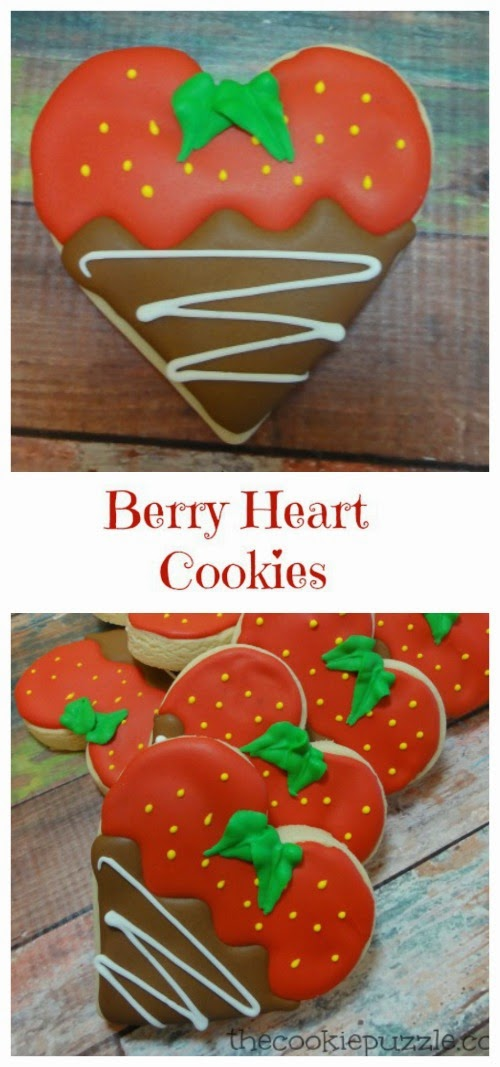 Berry Heart Cookies