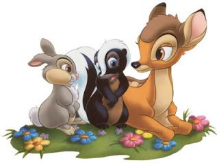 Bambi con tambor y la mofeta