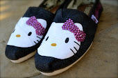 adorable hello kitty custom TOMS