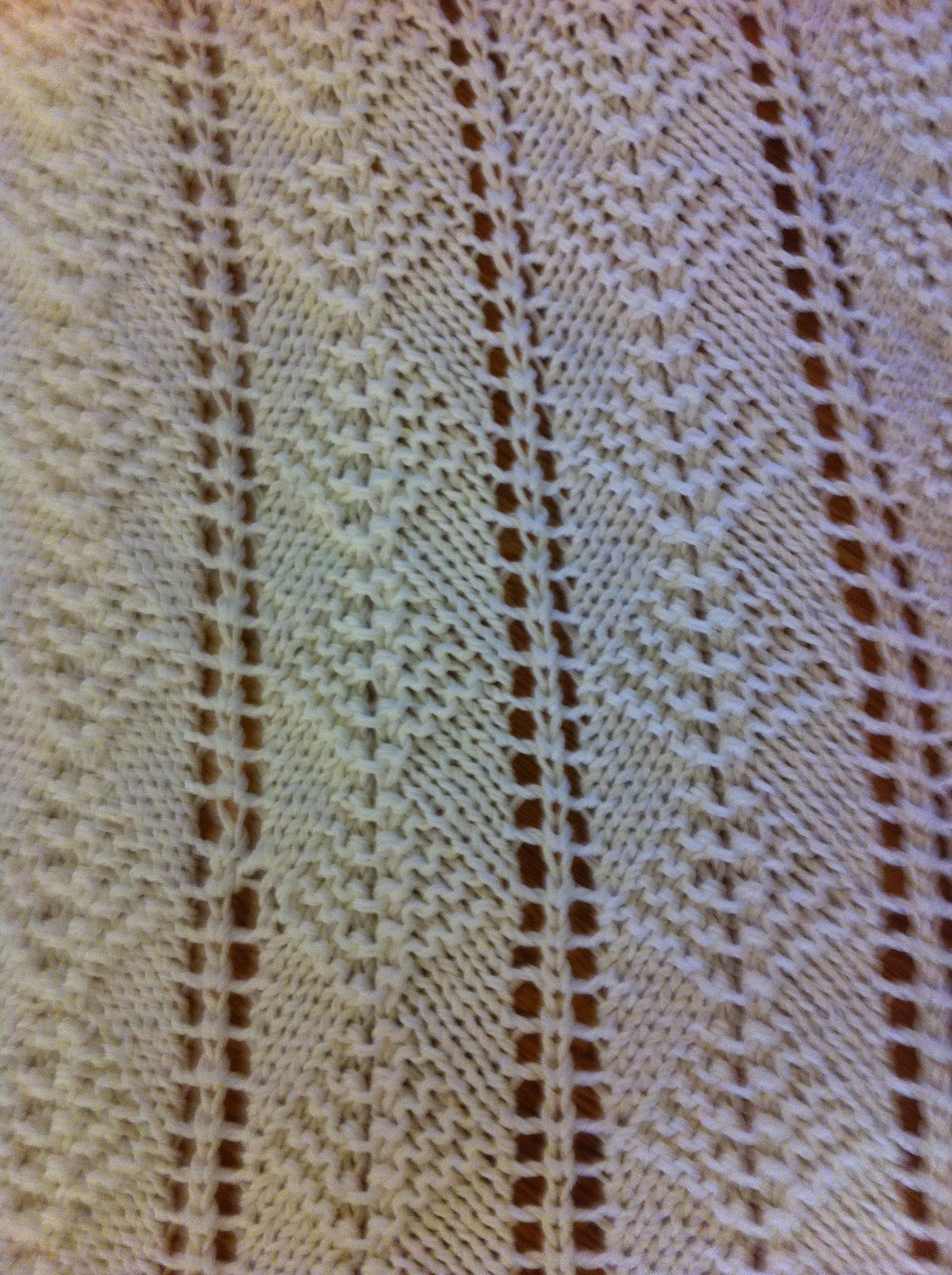 Kate Can Help: Knit Afghan - Lacy Garter Stitch Diamonds